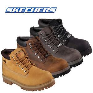 Skechers Mens Sergeants Verdict Ankle Boots Lace Up Waterproof Nubuck Work Shoes