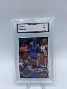 1995-96 NBA Fleer Flair Basketball Kevin Garnett RC #206 Gma 7 🔥