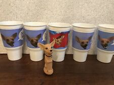 TACO BELL CHIHUAHUA TOY & CUPS LOT Yo Quiero Dog Promotional Candy Dispenser Pez