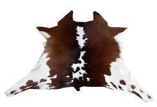 "Cowhide Rugs Calf Hide Cow Skin Rug (28""x31"") Black Brown and White CH8049"