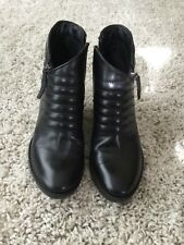 Ladies black leather ankle boots size 6 by CLARKS