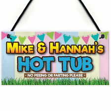 Personalised Hot Tub Rules Funny Jacuzzi Gift Hanging Plaque Friendship Sign