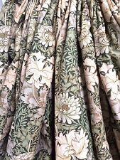 Sanderson Heavy Vintage William Morris Chrysanthemum Triple Pleat Linen Curtains
