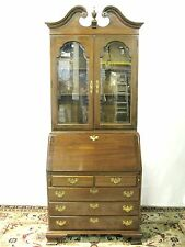 "Ethan Allen ""Georgian Court"" Cherry Secretary-Bookcase with Beveled Glass"