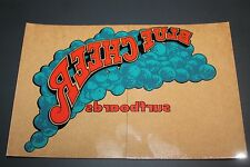 BLUE CHEER Surfboards Ocean SM Rare 1970's Window Sticker - Vintage Surfing