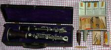 alte Klarinette von Oscar Adler & Co, Markneukirchen +Koffer+Klarinettenblätter