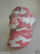 HUNTERS Specialties hat NEW ladies womens pink camo breast cancer support ribbon