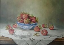 Still Life Watercolor Painting Signed Helena J Luther Art Home Decor 03158