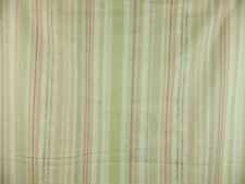 Designer Stripe Red Purple Green cotton sateen Fabric Remnant 3 Large Off Cuts