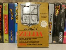 The Legend of Zelda Nintendo NES PAL B CIB Map in beautiful condition