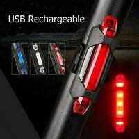 USB Light Rear Safety Lamp Rechargeable Cycling LED Bike Bicycle Tail Warning