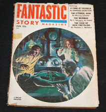 1953 Fantastic Story Pulp Digest Science Fiction Magazine Vol 5 #1 VG