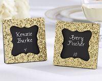 48 All That Glitters Gold Glitter Square Photo Frame Wedding Favors