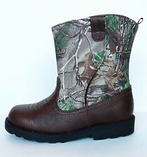NEW Infant Toddler Camo Hiking Boots Size 4  Baby Boys Realtree Childrens Cowboy