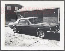 Vintage Car Polaroid Photo 1967 Ford Mustang Convertible Automobile 762714