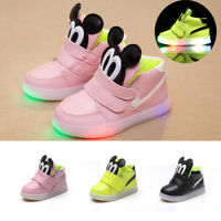 Kids Light Up Luminous Shoes Boys Girls Sports Running Sneakers Baby Toddler