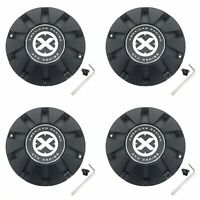 4 American Racing ATX Series Matte Black Wheel Center Hub Caps 5/8Lug XD806 Bomb