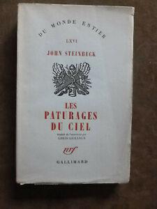 JOHN STEINBECK. LES PATURAGES DU CIEL. trad. LOUIS GUILLOUX. nrf.1948.1/210 ex.