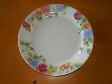 Corelle SUMMER BLUSH Set of 11 Dinner Plates Rimmed Red Blue Gold Pink