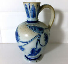 Doulton Lambeth late 19th. Century hand incised stoneware jug by Hannah Barlow