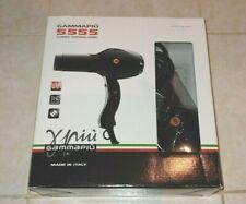 NIB Gamma Piu Curlisto 5555 Turbo Tormalionic Hair dryer Black Made in Italy