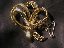 Sapphire Yellow Gold Fine Brooches & Pins