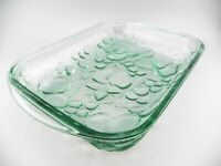 "Libbey Orchard Fruit Green Embossed 9"" X 12"" Rectangle Casserole Dish EUC"
