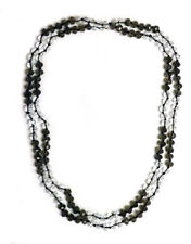 """Beautiful and Stylish Crystal Black and White Bead Necklace 47"""""""