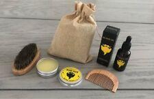 Beard Kit Oil Balm Comb Men Facial Care Male Mustache Beards Hair Grooming Set