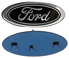 "2005-2014 Ford F-150 F-250 FRONT GRILLE or REAR TAILGATE 9"" Black Emblem"