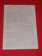 JOURNAL GAZETTE NATIONALE OU LE MONITEUR UNIVERSEL N° 302 DIM 28 OCTOBRE 1792