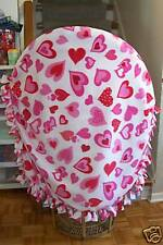 FREE SHIPPING NEW Handmade Double Layer Valentine HEARTS Fleece Blanket Throw