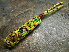 EXPLODE PARACORD NO CORE KNIFE LANYARD PULL 5 COLORED SKULLS AMERICAN MADE