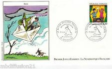 1988**ENVELOPPE ILLUSTREE**FDC 1°JOUR!!**FRED-BANDE-DESSINEE**TIMBRE Y/T 2506