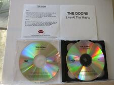 DOORS - Live At The Matrix  2 CD   UK PROMO TESTPRESSING   CDR  Rhino Records UK