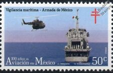 MBB BO105 Navy helicóptero avión Sello (100 años de la aviación en México)