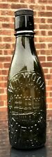 1890's Green Glass HIGHLY PICTORIAL Beer Bottle - Durham Cathedral (G119)