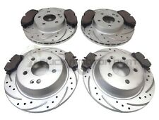 MERCEDES VITO 04-14 FRONT REAR DRILLED BRAKE DISCS MINTEX PADS (BREMBO CALIPERS)
