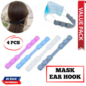 Face Mask 4x Adjustable Ear Hook Strap Extension Ear Saver Fixing Clip Buckle