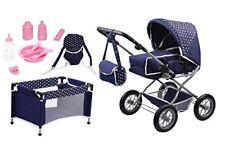 Bayer Design 1505115 – Set Grande con carrozzina per bambole, lettino e (c6d)