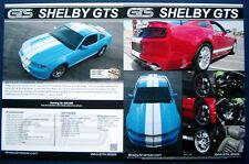 Prospekt brochure Datenblatt 2013 - 2014 Ford Mustang Shelby GTS (USA)