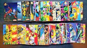 1994 Marvel Universe Trading Cards Complete 200 Card Set NM Fleer