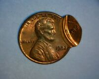 "1982 LINCOLN CENT, MULTI- STRUCK, OFF CENTER  ""COPPER""  ""2 DATES""  US ERROR COIN"