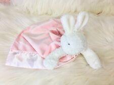 Bunnies by the Bay Lovey Plush Blanket PINK Satin Bunny Bye Bye Buddy Strap