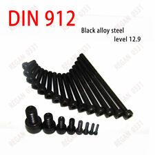M4 Black 12.9 Grade Alloy Steel Allen Hex Socket Cap Head Screw Bolt DIN912