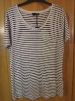 M & S Autograph Stripey T Shirt BNWT Size 10