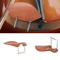 Wood  Violin Chin Rest with Softwood Strip & Bracket  4/4 Size Violin NewDS