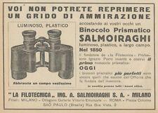 Z1621 Binocolo prismatico SALMOIRAGHI - Pubblicità d'epoca - 1930 Old advert