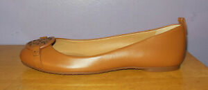 NEW Tory Burch Gabriel S/N 57984 Light Brown Logo Flats Size 6.5