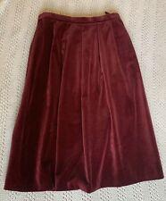 Debenhams Skirt. Velvet. Burgundy. Lined. Midi. Size 10. Midi